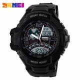 Ulasan Lengkap Skmei Men Sport Led Ad1017 Water Resistant 50M Anti Air Wr 50M Dual Time Digital Analog Rider Watch Hitam