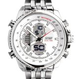 Beli Skmei Casio Men Sport Led Watch Water Resistant 50M Ad0993 White Pake Kartu Kredit