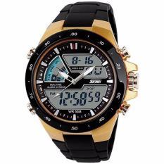 SKMEI Casio Men Sport LED Watch Water Resistant 50m AD1016 - Golden Kualitas Original Garansi 1 Bulan