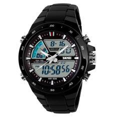 SKMEI Casio Men Sport LED Watch Water Resistant 50m AD1016 / Jam Tangan Sporty Pria Jam Tangan Kasual - Hitam Kualitas Original Garansi 1 Bulan