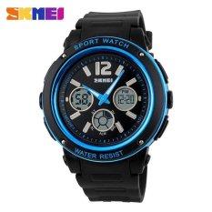 Harga Skmei Casio Men Sport Led Watch Water Resistant 50M Ad1051 Hitam Biru Asli Skmei