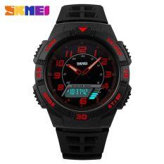 Obral Skmei Casio Men Sport Led Watch Water Resistant 50M Ad1065 Red Murah