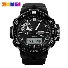 Termurah !! Skmei Casio Men Sport Led Watch Water Resistant 50m - Ad1081 - Black / Hitam / Blue / Biru / Orange / Oranye / White / Putih Jam Tangan Casula Kasual Cowo Cowok Pria Anti Air Waterproof Berkualitas