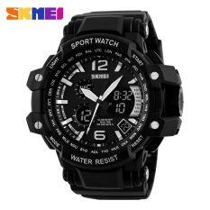Beli Skmei Casio Men Sport Led Watch Water Resistant 50M Ad1137 Black White Lengkap