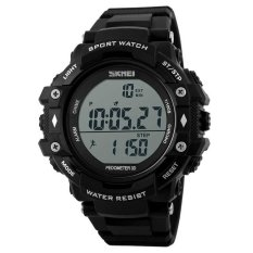 Jual Skmei Casio Men Sport Led Watch Water Resistant 50M Dg1128S Black Skmei Original