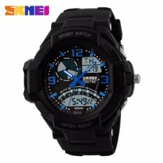 SKMEI Casio Men Sport LED Watch Water Resistant 50m Jam Tangan Sport Casio AD1017 GARANSI RESMI - Hitam Biru