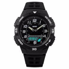 SKMEI Casio Men Sport LED Watch Water Resistant 50m Jam Tangan Sport Pria AD1065 - Putih