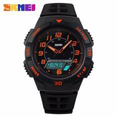 SKMEI Casio Women Sport LED Watch Water Resistant 50m Jam Tangan Casio Skmei Wanita AD1020 GARANSI RESMI - Hitam Orange