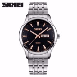 Jual Skmei Casual Men Analog Watch 9125Cs Water Resistant Anti Air Wr 30M Jam Tangan Pria Tali Strap Steel Wristwatch Wrist Watch Stylish Formal Elegan Design Silver Hitam Murah Di Dki Jakarta