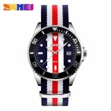 Harga Skmei Casual Men Colorful Army Strap Watch Water Resistant 30M 9133C Termahal