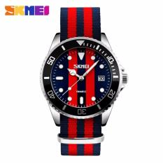 Harga Skmei Casual Men Colorful Army Strap Watch Water Resistant 30M 9133C Asli Skmei