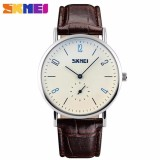 Diskon Skmei Casual Men Leather Strap Watch 9120Cl Water Resistant Anti Air Wr 30M Jam Tangan Pria Strap Tali Kulit Elegant Formal Kerja Macho Design Wristwatch Hitam Dki Jakarta