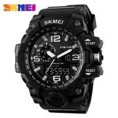 Jual Skmei Casual Men Leather Strap Watch Water Resistant 50M Ad1155 Black White Murah Di Jawa Tengah