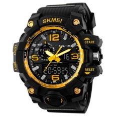 Promo Skmei Casual Men Rubber Strap Watch Water Resistant 50M Jam Tangan Kasual Pria Ad1155 Akhir Tahun