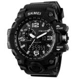 Review Pada Skmei Casual Men Rubber Strap Watch Water Resistant 50M Jam Tangan Kasual Pria Ad1155 Hitam Putih