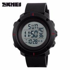 Harga Hemat Skmei Casual Men Silicone Strap Watch Water Resistant 50M Dg1213 Jam Tangan Pria Casual Strap Silicon Berkualitas Hitam Merah