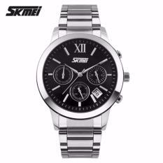 Spesifikasi Skmei Casual Men Stainless Strap 9097Cs Watch Water Resistant Anti Air Wr 30M Jam Tangan Pria Kerja Formal Elegan Wristwatch Wrist Watch Hitam Dan Harga