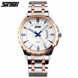 Toko Skmei Casual Men Strap Watch 9069Cs Water Resistant Anti Air Wr 30M Jam Tangan Pria Tali Strap Steel Wristwatch Wrist Watch Stylish Formal Elegan Design Silver Gold Biru Termurah Di Dki Jakarta