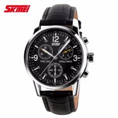 Diskon Besarskmei Casual Men Strap Watch 9070Cl Water Resistant Anti Air Wr 30M Jam Tangan Pria Tali Kulit Wristwatch Wrist Watch Stylish Hitam