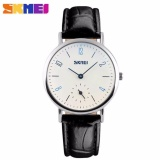 Beli Skmei Casual Women Leather Strap Watch 9120Cl Water Resistant Anti Air Wr 30M Jam Tangan Wanita Strap Tali Kulit Elegant Formal Kerja Macho Design Wristwatch Hitam