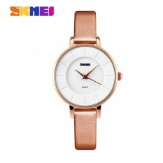 Beli Barang Skmei Casual Women Leather Strap Watch Water Resistant 30M 1178Cl Champagne Gold Online