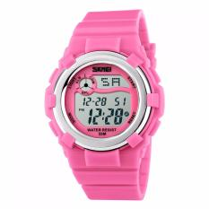 SKMEI Children Sport Silicone LED Watch Water Resistant 50m Jam Tangan Sport Anak DG1161 - Pink