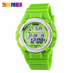Harga Skmei Children Sport Silicone Led Watch Water Resistant 50M Jam Tangan Sport Anak Dg1161 Hijau Original