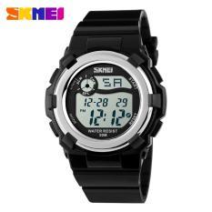 Spesifikasi Skmei Children Sport Silicone Led Watch Water Resistant 50M Jam Tangan Sport Anak Dg1161 Jam Tangan Anak Digital Hitam Yg Baik
