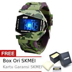 SKMEI Combat Army Hijau - Jam Tangan Pria - Strap Karet - 0817 Army Green Edition + Free BOX ORI SKMEI