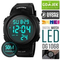 SKMEI DG1068 Jam Tangan Pria Digital Sport Cowok LED Water Resistant 50M 1068 Original - Hitam
