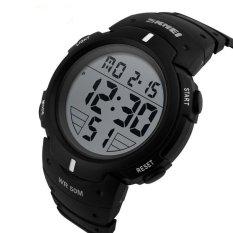 Jual Skmei Digital Pioneer Sport Watch Water Resistant 50M Jam Tangan Pria Karet Dg1068 Hitam Jawa Barat