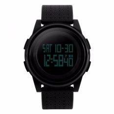 Skmei Digital Sport Watch Water Resistant 50M Dg1206 Jam Tangan Sport Day Date Night Light Stopwatch Hitam Skmei Diskon 50