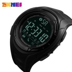 SKMEI  Digital Wristwatches Men's Wrist Watch Smart Bluetooth Pedometer Calories Male Watch Black Sport Clock Men's Wristwatch - intl