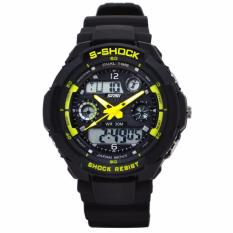 Diskon Skmei Dual Time Men Sport Led Watch Anti Air Water Resistant Wr 50M Ad0931 Jam Tangan Pria Tali Strap Karet Digital Analog Alarm Wristwatch Wrist Watch Fashion Accessories Stylish Trendy Model Baru Sporty Design Hitam Kuning Dki Jakarta