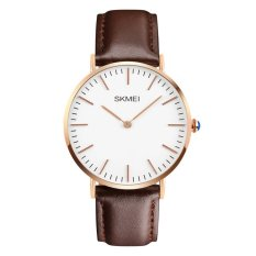 Jual Skmei Fashion Men Watch Leather 1181Cl Coklat Box Original Skmei Branded