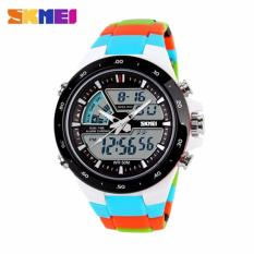 Skmei Fashion Men S Sport Led Waterproof Rubber Strap Wrist Watch Blue 1016 Intl Tiongkok Diskon