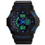 Harga Skmei Busana Pria Sport Tahan Air Karet Strap Wrist Watch Biru 0955 Skmei Tiongkok