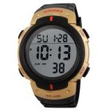 Spesifikasi Skmei Busana Pria Sport Tahan Air Karet Strap Wrist Watch Emas 1068 Intl Dan Harganya
