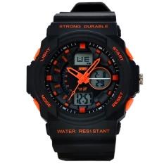 Jual Beli Online Skmei Fashion Men S Sport Waterproof Rubber Strap Wrist Watch Orange 0955 Intl