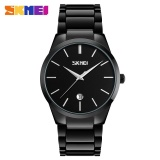 Jual Skmei Fashion Stainless Steel Jual Pria Jam Tangan Pria Tahan Air Watch Model 9140 Hitam Intl Original