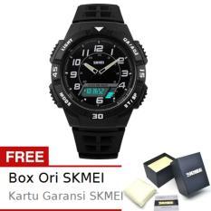 SKMEI Flank Full Hitam - Jam Tangan Pria - Strap Karet - 1065 Sport Full Black + Free BOX ORI SKMEI