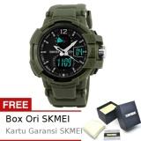 Spesifikasi Skmei Goblin Hijau Jam Tangan Pria Strap Karet 1040 Sport Green Free Box Ori Skmei Skmei