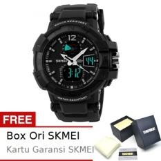 SKMEI Goblin Hitam - Jam Tangan Pria - Strap Karet - 1040 Sport Black + Free BOX ORI SKMEI