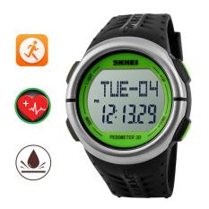 Jual Skmei Monitor Denyut Jantung Pusat Perhatikan Alat Pengukur Langkah Kalori Counter Jam Digital Jam Tangan Tahan Terhadap Udara Sports Luar Room Hitam Hijau Internasional Import