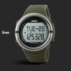 SKMEI Jantung Kecepatan Monitor Olahraga Jam Tangan Pria Digital LED 1111 Alarm Mesin Perekam Akurat Anti-Air Lampu Belakang Berhenti Jam Tangan Otomatis Date Silikon -Internasional
