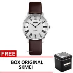 Diskon Besarskmei Jam Tangan 9092Cl Coklat Box Original Skmei