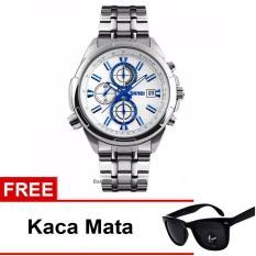 Spesifikasi Skmei Jam Tangan 9107Cs Silver Blue Free Kacamata Beserta Harganya