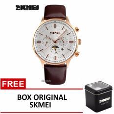 Skmei Jam Tangan 9117Cl Coklat Putih Box Original Skmei Promo Beli 1 Gratis 1