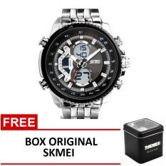 Toko Skmei Jam Tangan Ad0993 Silver Black Box Original Skmei Lengkap