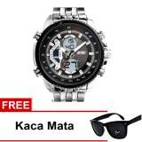 Toko Skmei Jam Tangan Ad0993 Silver Black Free Kacamata Skmei